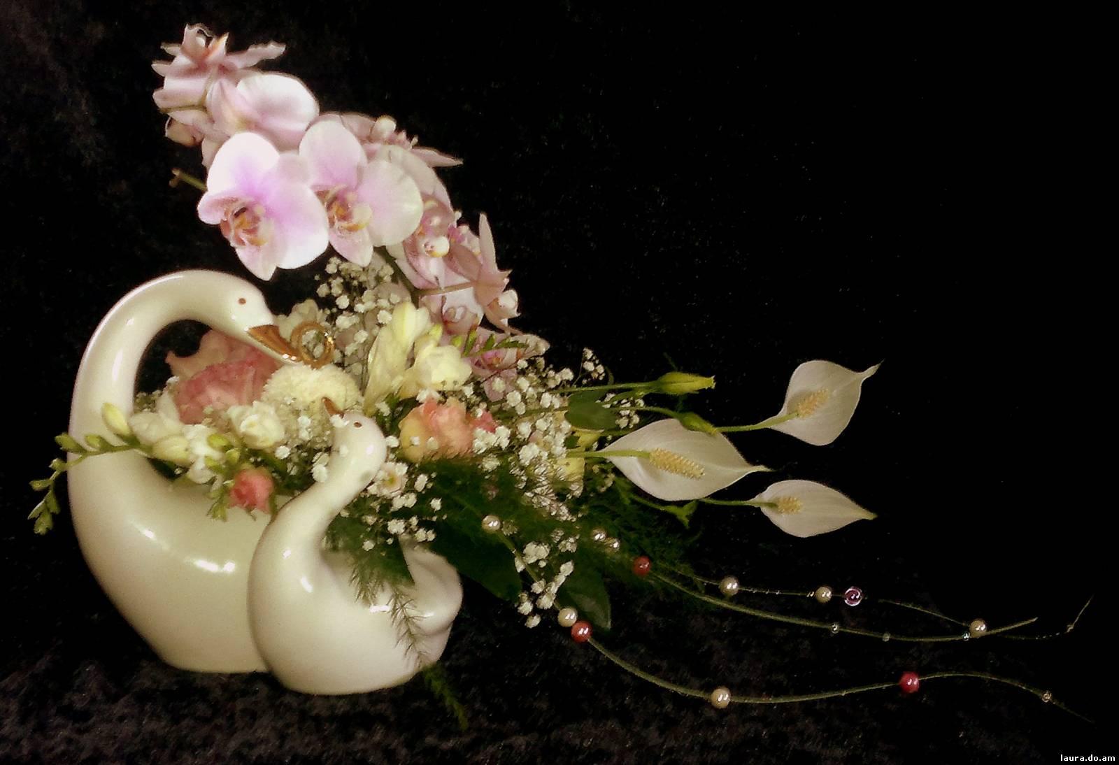 Красивые композиции из цветов фото с орхидеями
